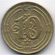 10 куруш 2009 Турция - 10 kurush 2009 Turkey, из оборота