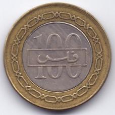 100 филсов 1997 Бахрейн - 100 fils 1997 Bahrain, из оборота