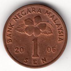 1 сен 2006 Малайзия - 1 sen 2006 Malaysia, из оборота