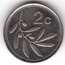 2 цента 1995 Мальта - 2 cents 1995 Malta, из оборота