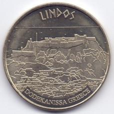 Жетон сувенирный HELLENIC HERITAGE. Греция, Линдос панорама