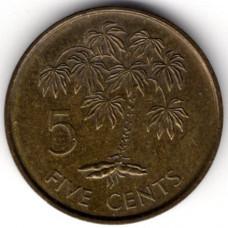 5 центов 1982 Сейшельские острова - 5 cents 1982 Seychelles, из оборота