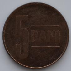 5 бань 2010 Румыния - 5 bani 2010 Romania, из оборота