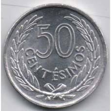 50 сентесимо 1965 Уругвай - 50 sentesimo 1965 Uruguay, из оборота