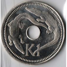 1 кина 2004 Папуа-Новая Гвинея - 1 kina 2004 Papua New Guinea, из оборота