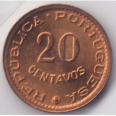 20 сентаво 1974 Мозамбик - 20 centavos 1974 Mozambique, из оборота