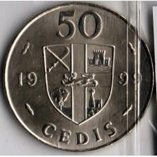 50 седи 1999 Гана - 50 cedi 1999 Ghana, из оборота