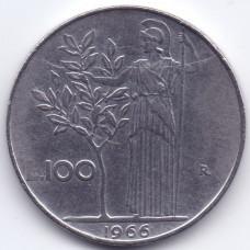 100 лир 1966 Италия - 100 lire 1966 Italy, из оборота
