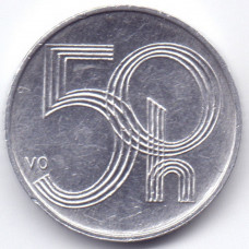 50 геллеров 2003 Чехия - 50 hellers 2003 Czech Republic, из оборота