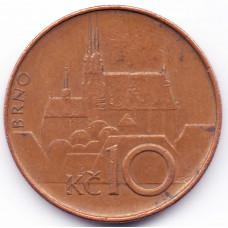 10 крон 1993 Чехия - 10 korun 1993 Czech, из оборота