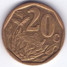 20 центов 2009 ЮАР - 20 cents 2009 Republic of South Africa, из оборота
