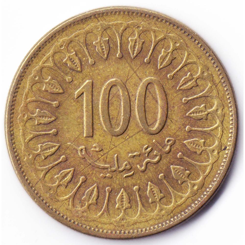 100 миллимов 2008 Тунис - 100 millim 2008 Tunisia, из оборота