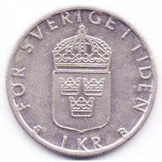1 крона 2000 Швеция - 1 krona 2000 Sweden, из оборота