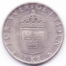 1 крона 1990 Швеция - 1 krona 1990 Sweden, из оборота