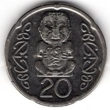 20 центов 2006 Новая Зеландия - 20 cents 2006 New Zealand, из оборота