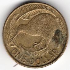 1 доллар 1990 Новая Зеландия - 1 dollar 1990 New Zealand, из оборота