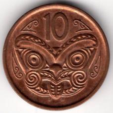 10 центов 2006 Новая Зеландия - 10 cents 2006 New Zealand, из оборота