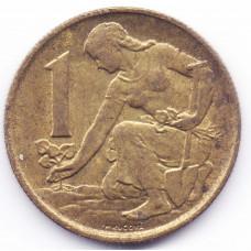 1 крона 1980 Чехословакия - 1 krone 1980 Czechoslovakia, из оборота