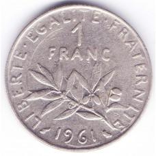 1 франк 1961 Франция - 1 franc 1961 France, из оборота