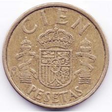 100 песет 1985 Испания - 100 pesetas 1985 Spain, из оборота