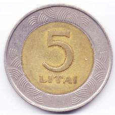 5 лит 1999 Литва - 5 litas 1999 Lithuania, из оборота