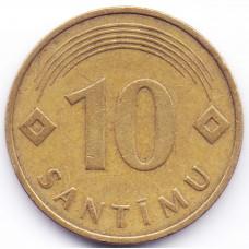 10 сантимов 1992 Латвия - 10 centimes 1992 Latvia, из оборота