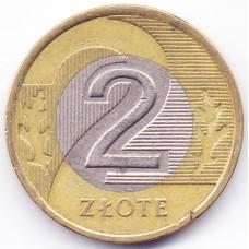 2 злотых 1995 Польша - 2 zloty 1995 Poland, из оборота