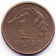 1 грош 1992 Польша - 1 grosz 1992 Poland, из оборота