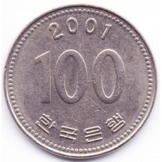 100 вон 2001 Южная Корея - 100 won 2001 South Korea, из оборота