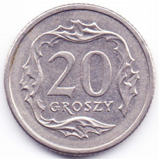 20 грошей 2000 Польша - 20 groszy 2000 Poland, из оборота