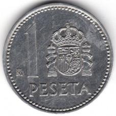 1 песета 1986 Испания - 1 peseta 1986 Spain, из оборота