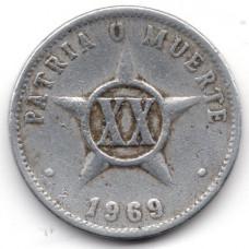20 сентаво 1969 Куба - 20 centavos 1969 Cuba, из оборота