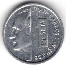 1 песета 1991 Испания - 1 peseta 1991 Spain, из оборота
