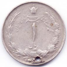 1 риал Иран - 1 rial Iran, 1971-1973 (предположительно), из оборота