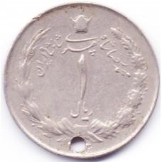 1 риал Иран - 1 rial Iran, 1973 (предположительно), из оборота