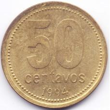 50 сентаво 1994 Аргентина - 50 centavo 1994 Argentina, из оборота