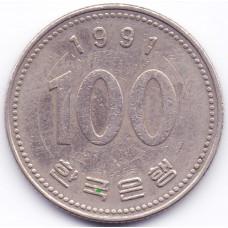 100 вон 1991 Южная Корея - 100 won 1991 South Korea, из оборота