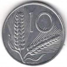 10 лир 1989 Италия - 10 lire 1989 Italy, из оборота
