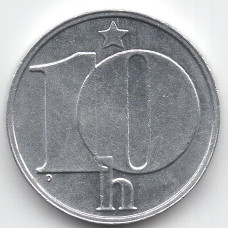 10 геллеров 1976 Чехословакия - 10 hellers 1976 Czechoslovakia, из оборота