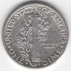 1 дайм 1943 США - 1 dime 1943 USA, из оборота