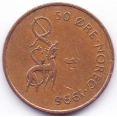 50 эре 1996 Норвегия - 50 ore 1996 Norway, из оборота