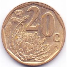 20 центов 2001 ЮАР - 20 cents 2001 South Africa, из оборота
