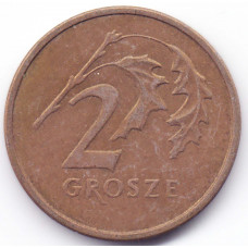 2 гроша 2000 Польша - 2 grosze 2000 Poland, из оборота