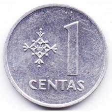 1 цент 1991 Литва - 1 cents 1991 Lithuania, из оборота