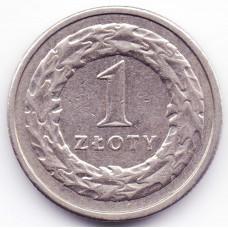 1 злотый 1992 Польша - 1 zloty 1992 Poland, из оборота