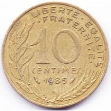 10 сантимов 1985 Франция - 10 centimes 1985 France, из оборота