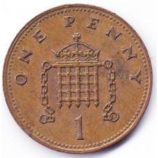 1 пенни 1990 Великобритания - 1 penny 1990 Great Britain, из оборота