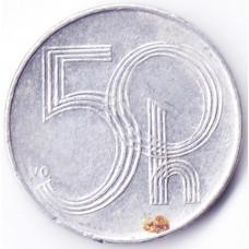 50 геллеров 1996 Чехия - 50 hellers 1996 Czech Republic, из оборота
