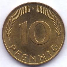 10 пфеннигов 1991 Германия - 10 pfennigs 1991 Germany, F, из оборота