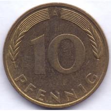 10 пфеннигов 1994 Германия - 10 pfennigs 1994 Germany, A, из оборота